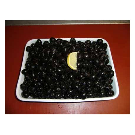Oliven schwarz, ohne Kerne pikant eingelegt mit Knoblauch