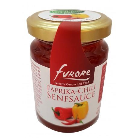 Paprika- Chilli Senfsauce 180 Gramm/ Glas