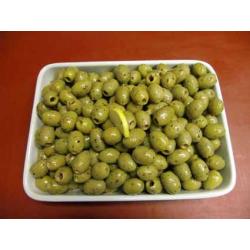 Oliven grün ohne Kerne pikant eingelegt ohne Knoblauch